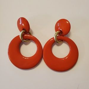 Vintage 80's Plastic Valley Girl Disco Earrings
